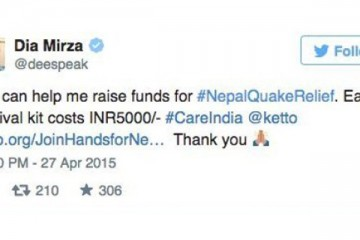 earthquake nepal bollywood reaction
